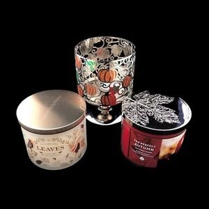 thanksgiving candle lot bath & body works